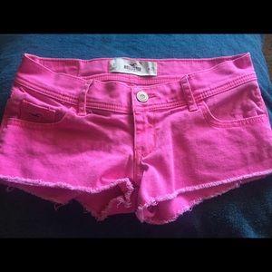Hot pink Hollister shorts